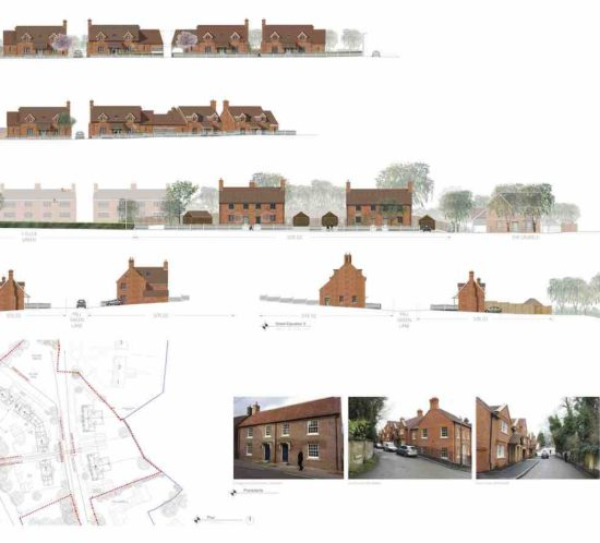 Elevation of proposed Mill Green Lane